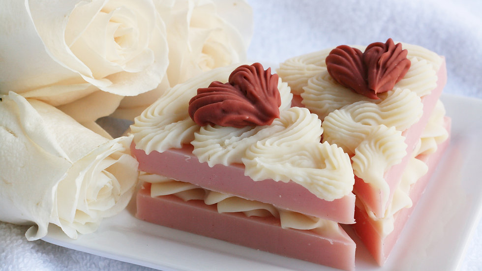 Rose Scented Soap Cake
