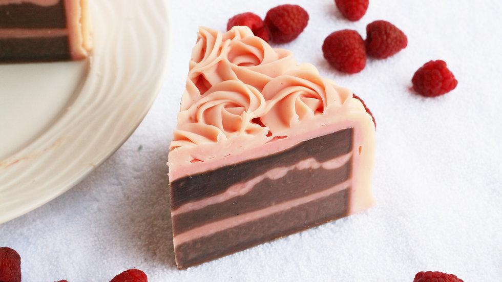 Raspberry Chocolate Soap Cake