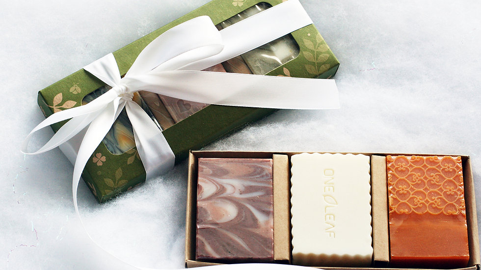 Green leaf Soap Box – 3 Soaps