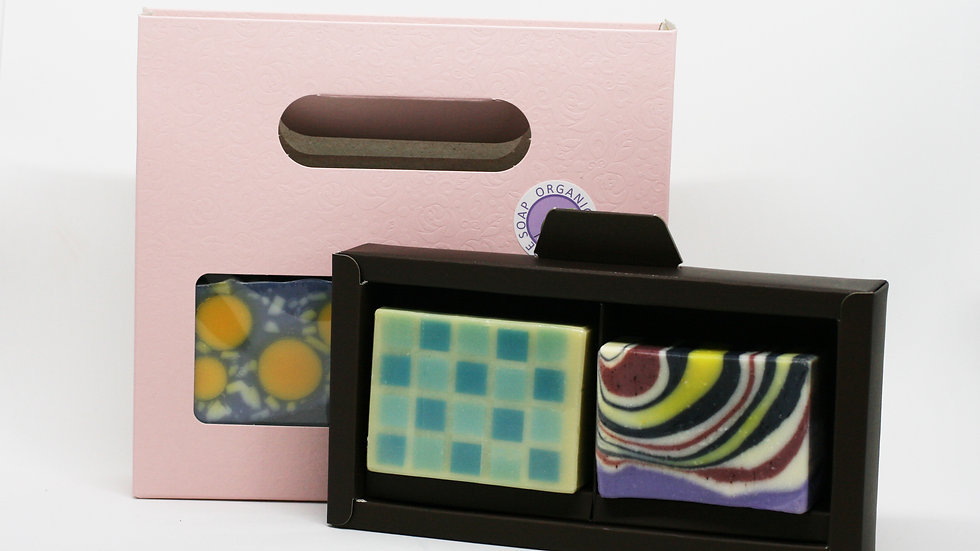 Pink Artisan Soap Gift Set – 2 Soaps