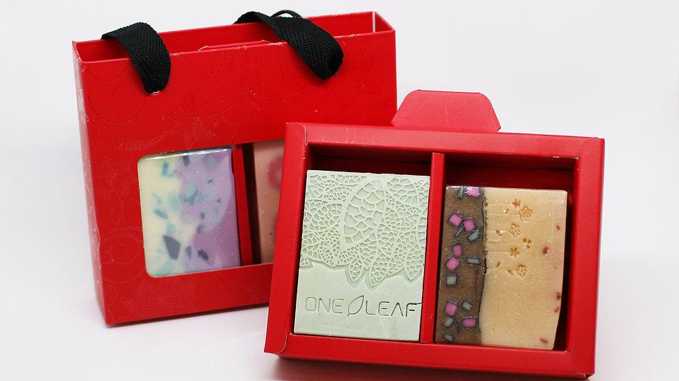 Red Shopper Soap Box – 2 Soaps