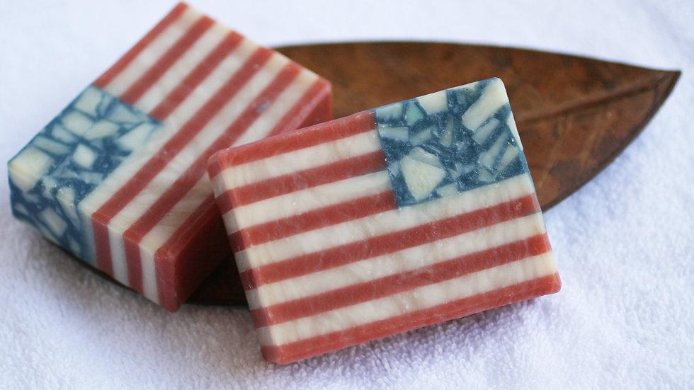 American Flag Soap