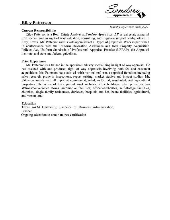 Appraiser Qualification sheet(Riley Patt