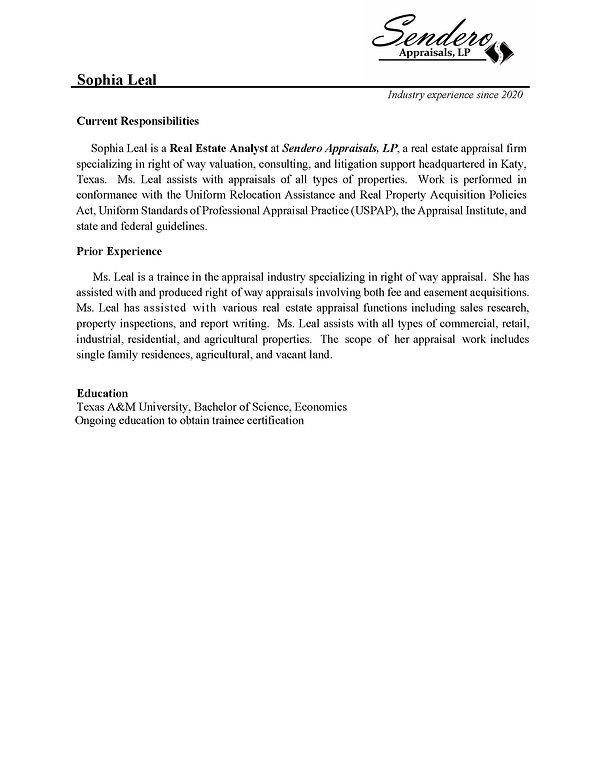 Appraiser Qualification sheet (Sophia Le