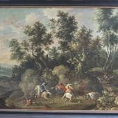 17de eeuws landschap voor restauratie