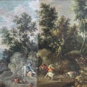 17de eeuws landschap tijdens de reiniging