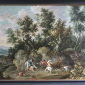 17de eeuws landschap na restauratie
