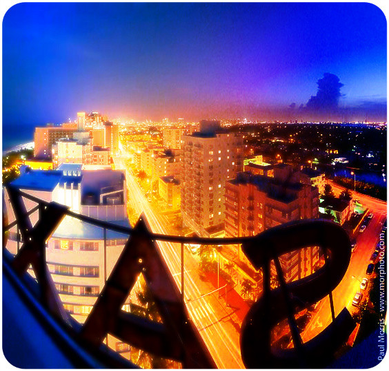 Miami Beach from the roof of the Saxony Hotel