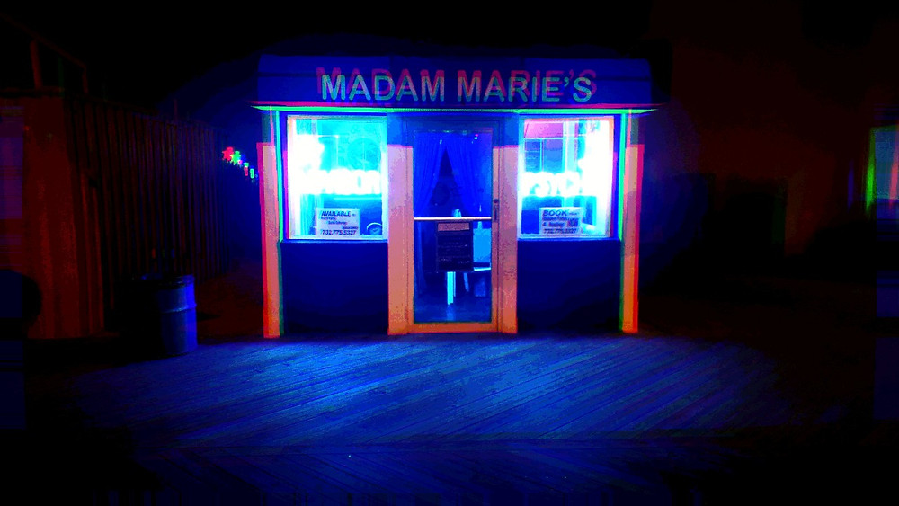 Madam Marie's fortunetelling booth, Asbury Park, NJ.