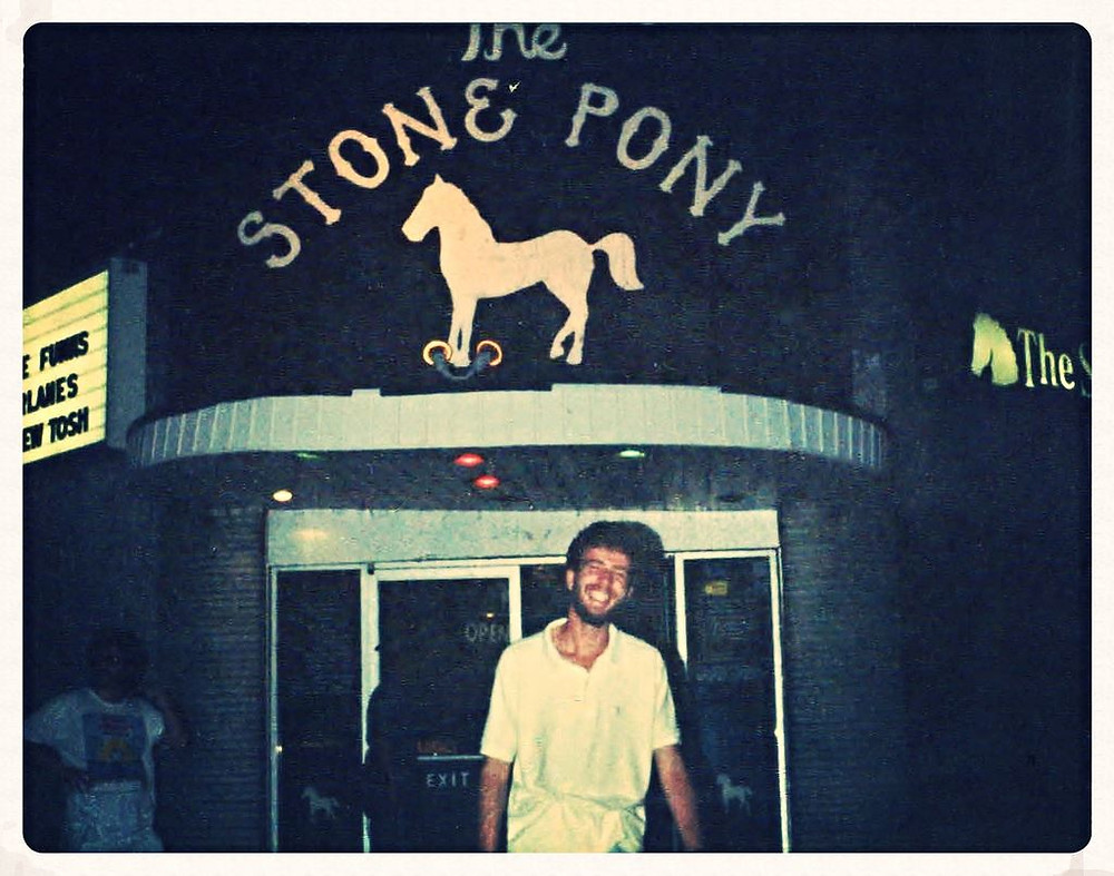 Heshy in front of the Pony, 1988