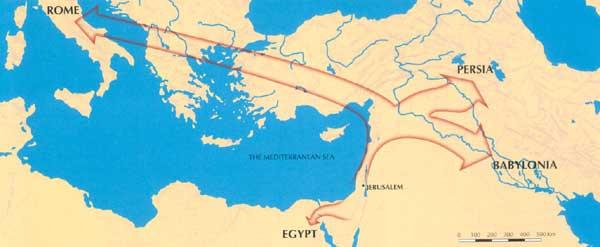 The paths of Israel's wanderings.