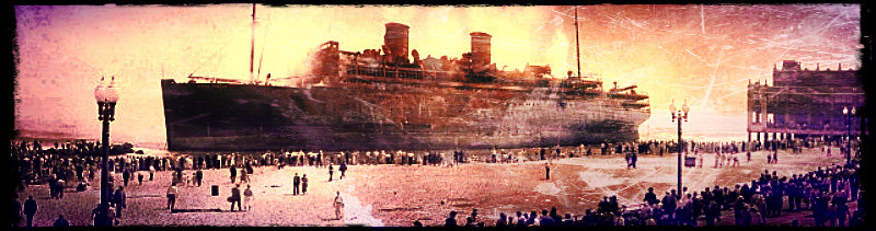 Morro Castle beached off Convention Hall