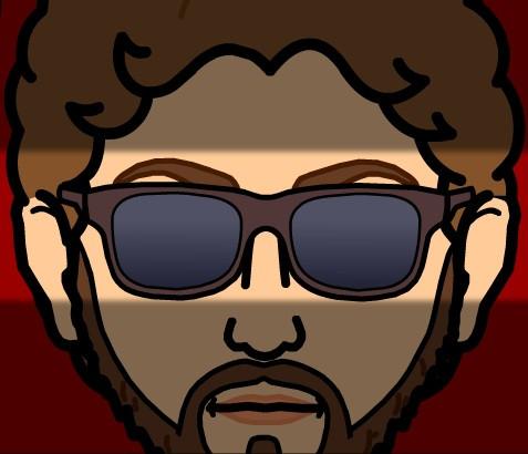 Heshy's bitstrips avatar w/sunglasses