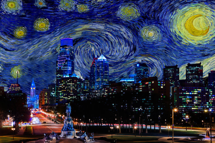 Philly starry night