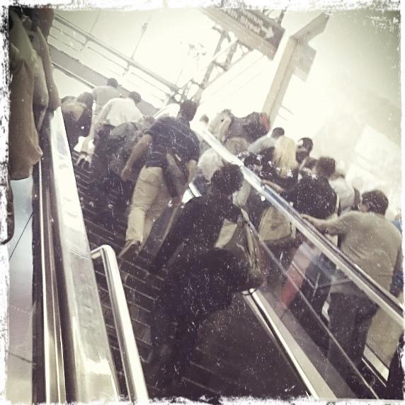 Penn Station escalators