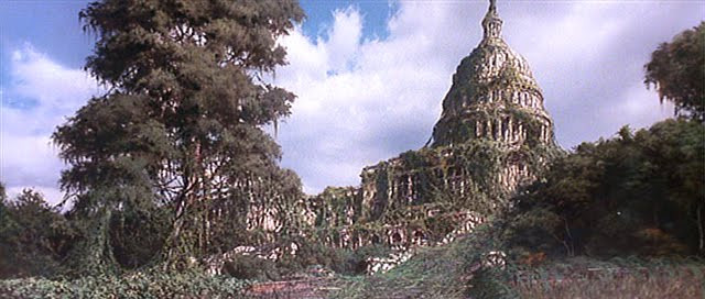 The Capitol in ruins.