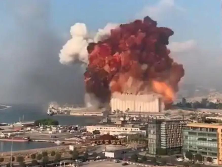 Massive explosion in Beirut, Lebanon, August 4, 2020.