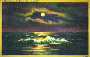 AP moonlight postcard
