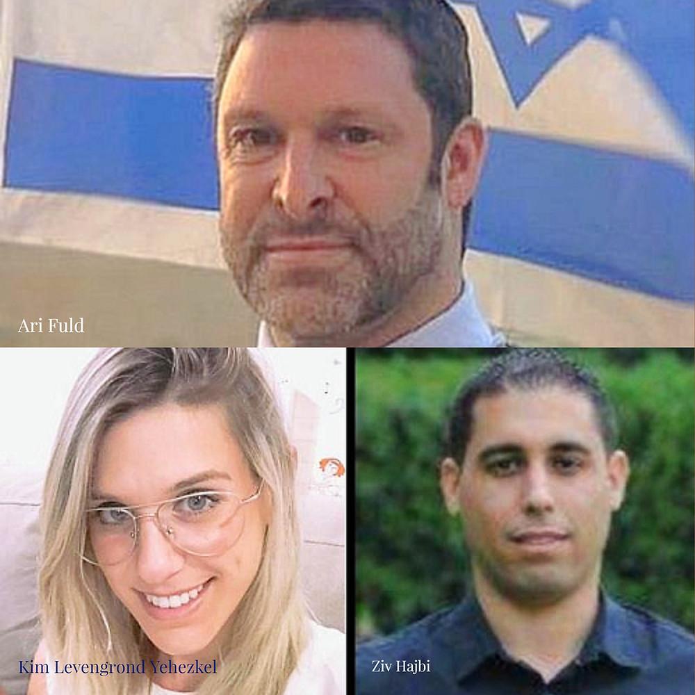 "Ari Fuld, Kim Levengrond Yehezkel, and Ziv Hajbi, HY""D"