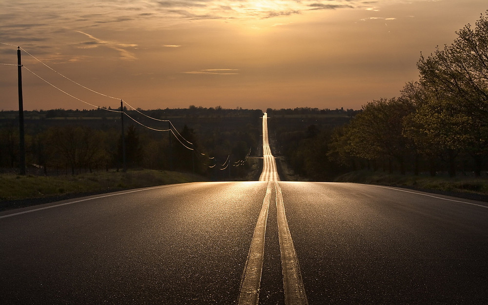 That long long road.
