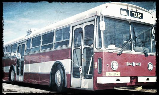 Egged bus, c. 1980s.