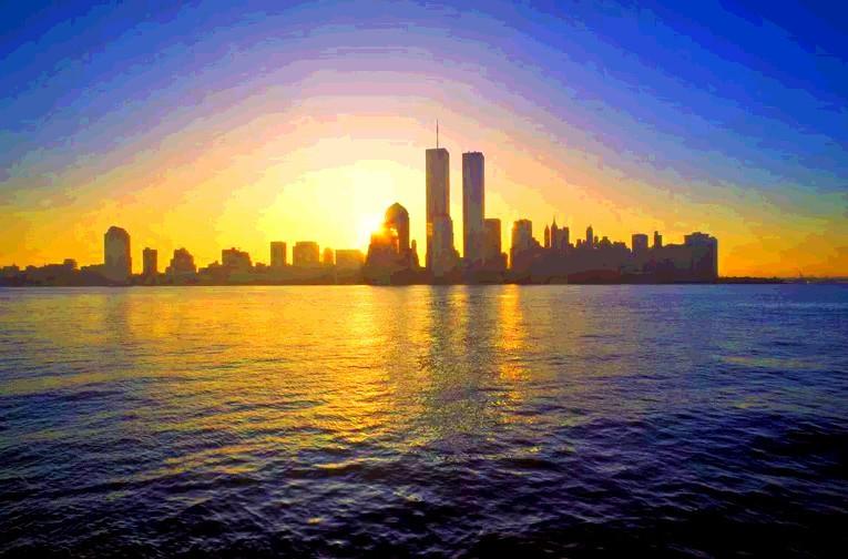 New York skyline before 9-11-01.