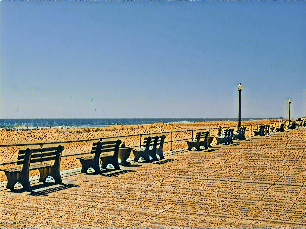 Ocean Grove boardwalk.