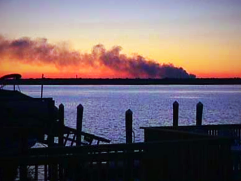 The view from Long Beach, 9-11-01