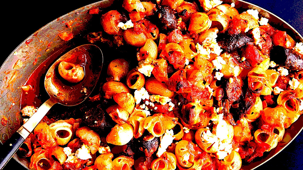 baked-pasta-with-merguez-and-harissa-spiked-sauce
