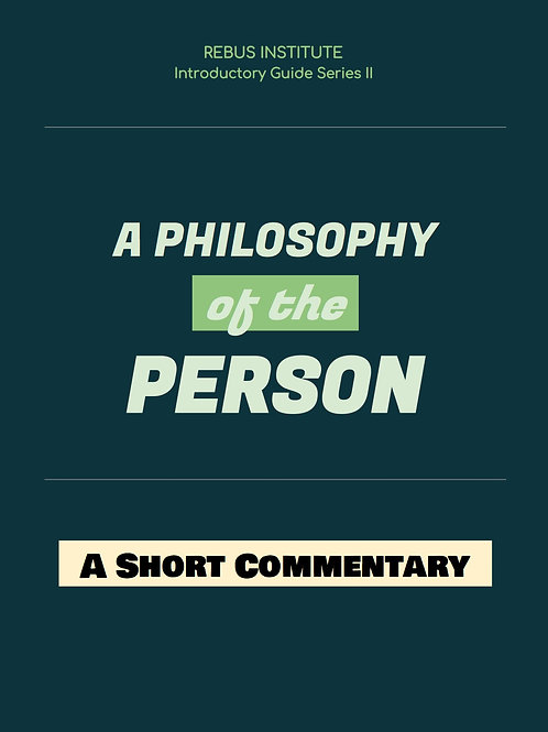 Philosophy of the Person