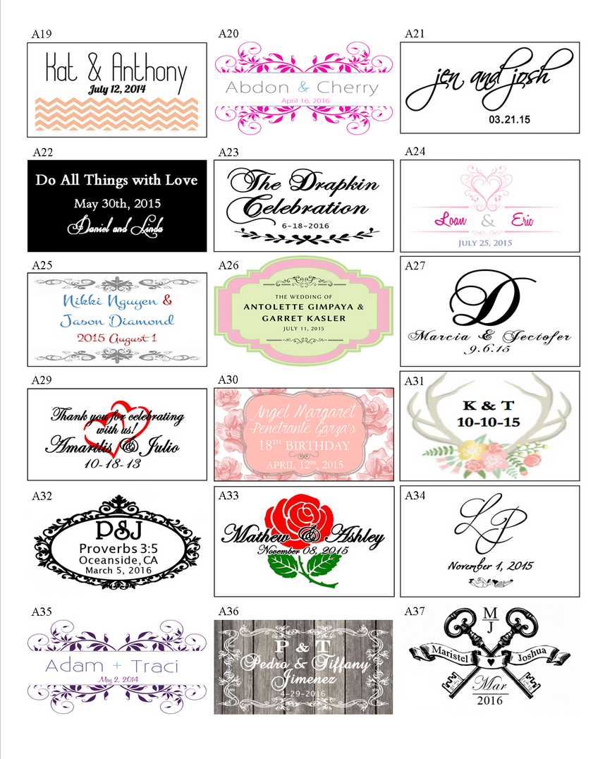 Sample Wedding Footers 02