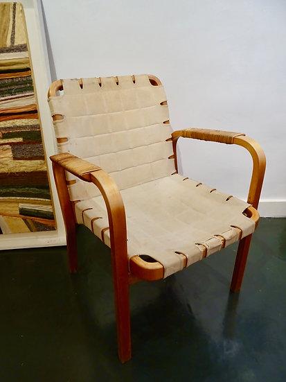 Alvar Aalto fauteuil modèle 45 pour Oy Huonekalu- ja Rakennustyötehdas AB, Finla