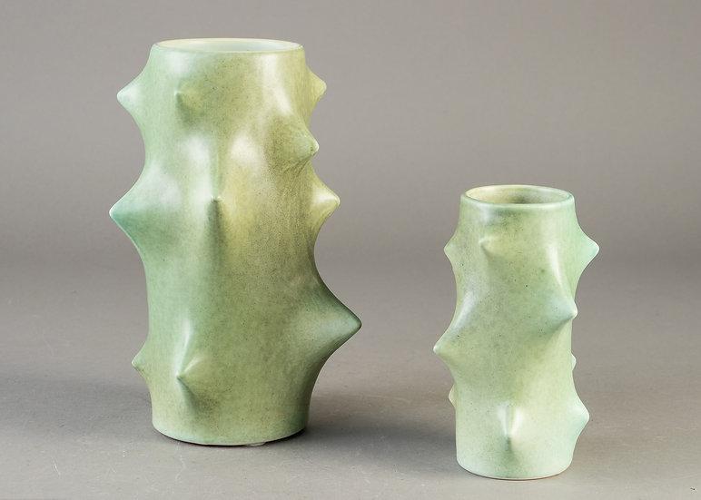 Suite de deux vases, Knud Basse, Danemark, 1955