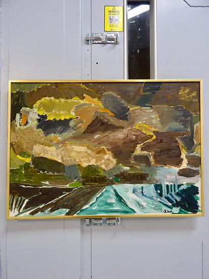 huile sur toile du peintre suédois Robert Hull, 195050.