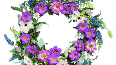 Pink & Lavender Wreath