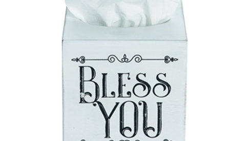 Bless You Tissue Box MDF Wood