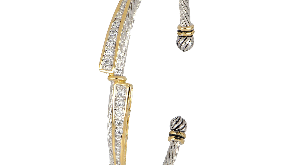 John Medeiros Dual Channel Wire Cuff Bracelet