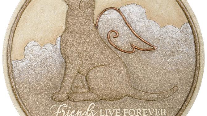 "Dog Live Forever"" Memorial Stepping Stone"