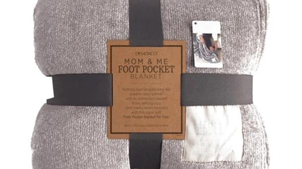 Mom & Me Foot Pocket Blanket