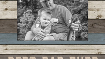 Best Dad Ever Picture Frame 4x6