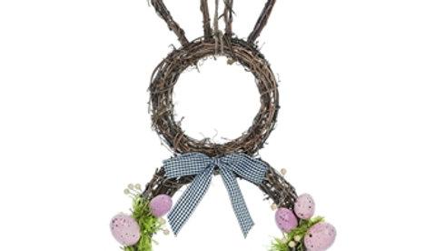 Twig & Egg Bunny Shaped Wreath