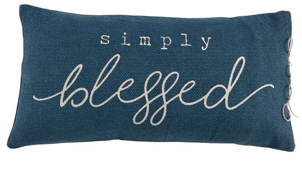 Mud Pie Simply Blessed Pillow
