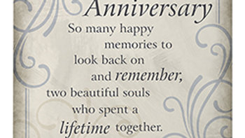 """""""50th Anniversary"""" Easel Plaque"""