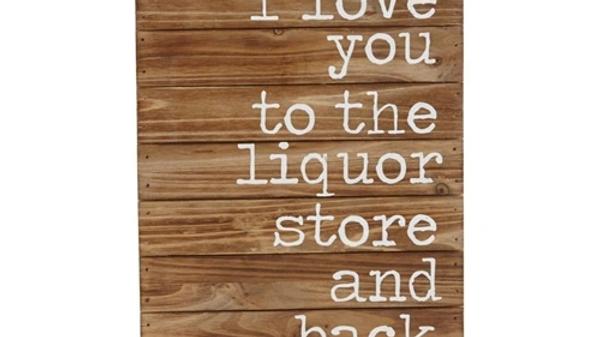 Liquor Store & Back Plaque