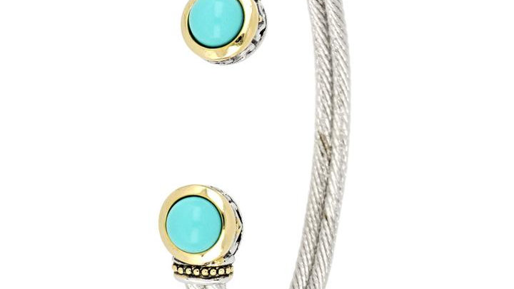John Medeiros Perola Turquoise Cuff Bracelet