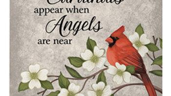 """Cardinals Appear"" Easel Plaque"