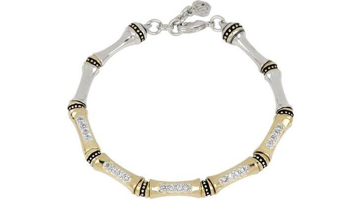 John Medeiros Canias Pave' Single Row Bracelet