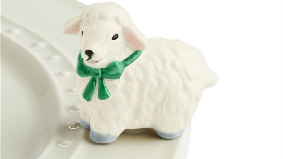 Nora Fleming White Lamb Mini