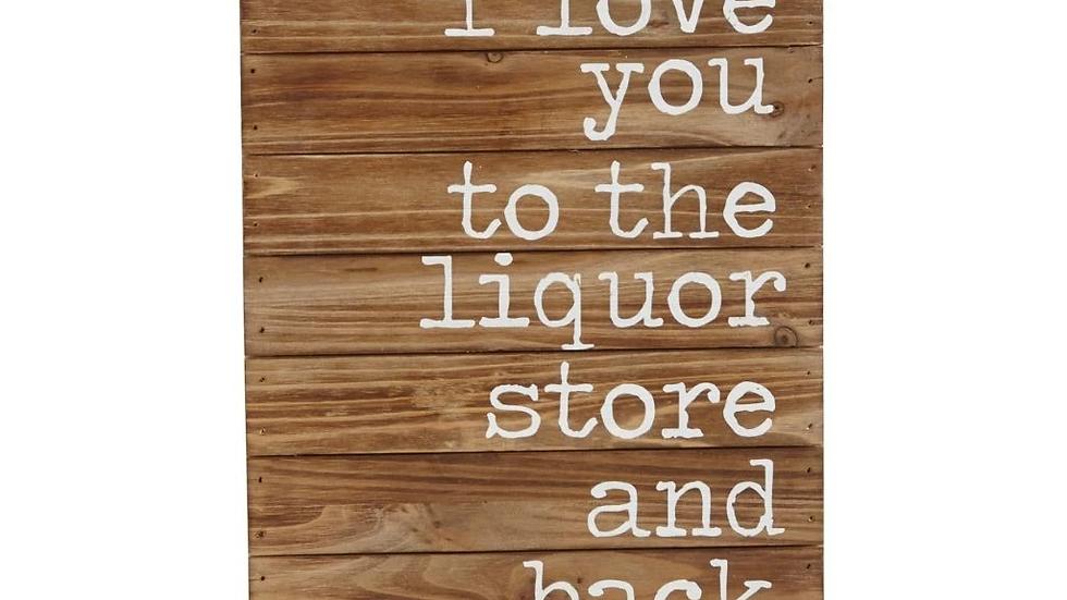 Liquor Store and Back Plaque