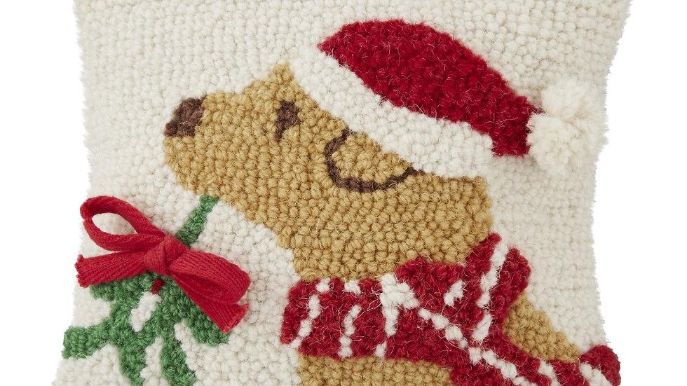 Tan Christmas Dog Hook Pillow
